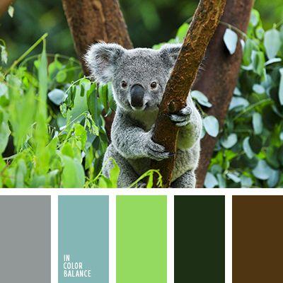 голубой, кислотный зеленый, коричневый, подбор цвета, салатовый, серый, тёмно-зелёный, теплый коричневый, цвет зелени, цвет чирок, цветовое решение для ремонта, яркий салатовый