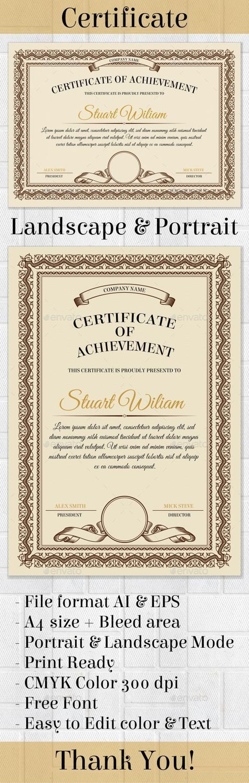25+ unique Certificate templates ideas on Pinterest Free - certificate design format