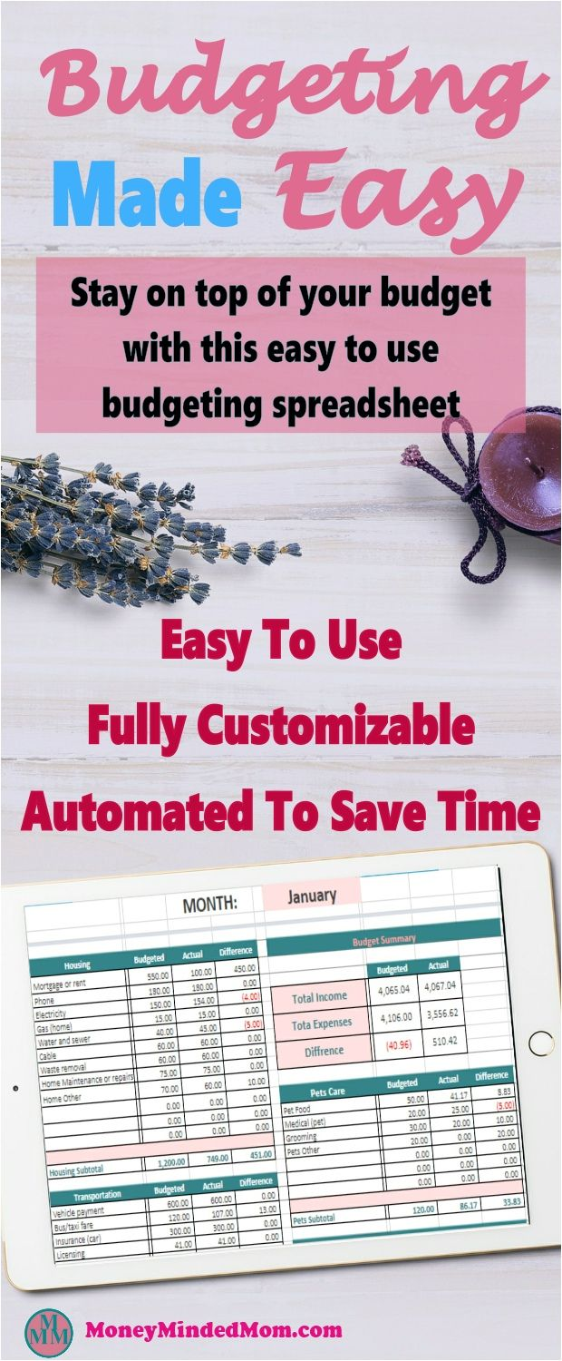 budgeting made easy easy to use budget spreadsheet budgeting
