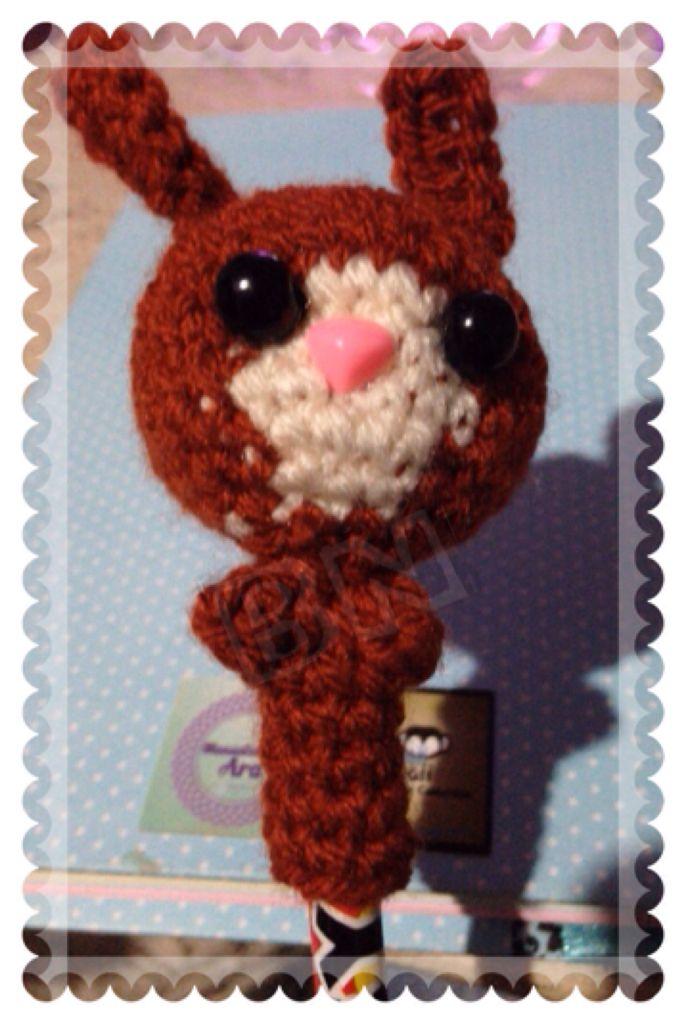 Amigurumi Bunny Pencil Holder : Pencil topper// Bunny// Amigurumi// Crochet// Lapiz ...