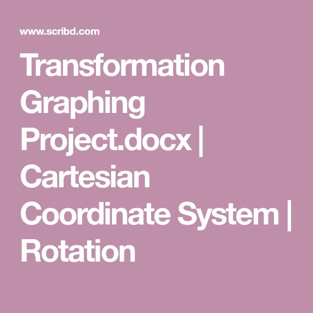 Transformation Graphing Project.docx   Cartesian Coordinate System   Rotation