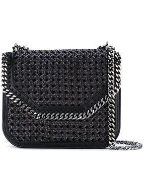 25f82e1663 Stella McCartney Black Falabella Box wicker Medium Shoulder Bag ...