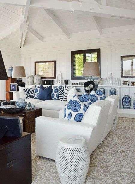 oltre 25 fantastiche idee su soggiorno accogliente su pinterest ... - Soggiorno Bianco E Blu