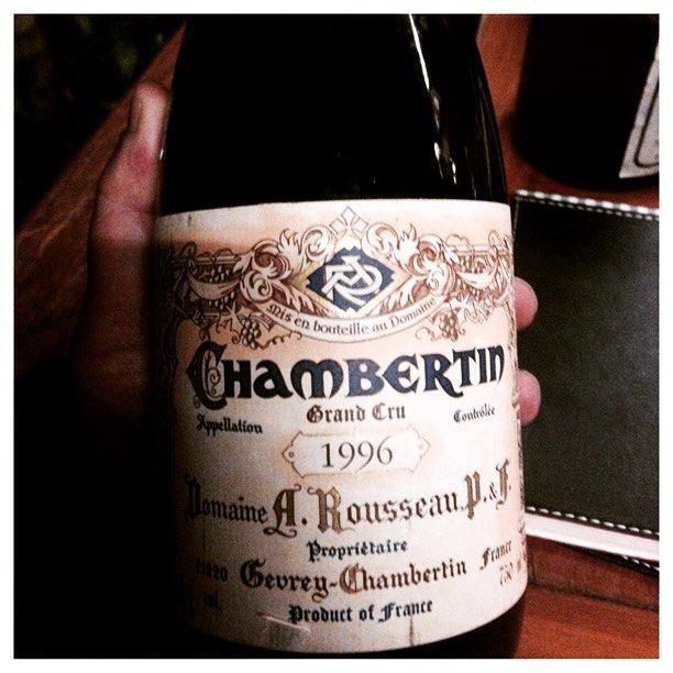 Domaine Armand Rousseau Chambertin GC 1996. Sem palavras!!! #armandrousseau #chambertin #pinotnoir