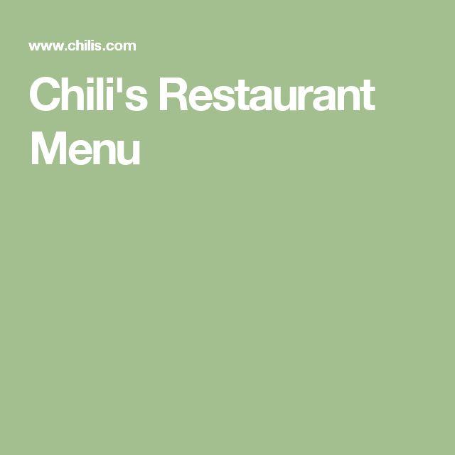 Chili's Restaurant Menu
