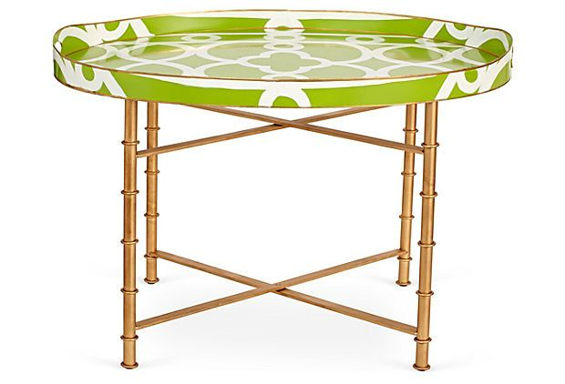 Hand-Painted Ming Cocktail Table, Green on OneKingsLane.com
