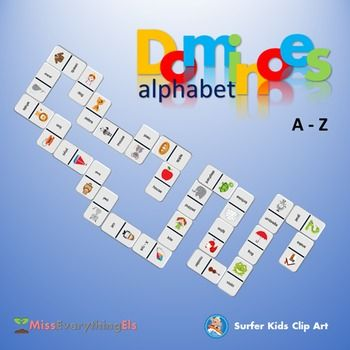The Purpose of the Game:Dominoes Alphabet helps your students to gain the knowledge and recognition of alphabet and starting phonics.How to play the Game:Like in the game of dominoes, the objective is to link a matching tile to either side of the domino tile.In this case the tiles must be linked picture to picture word, see the example in the thumbnail above.In this game everyone wins through assistance, the goal is to keep the train going.Instructions:1.