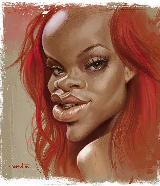 Caricatura de Rihanna.