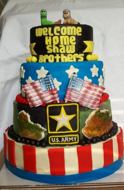 176 best images about cakes military on pinterest for Welcome home soldier decorations