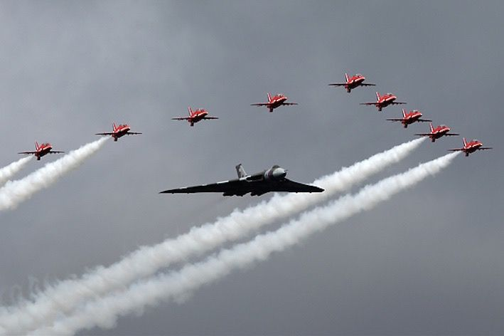 Vulcan and red arrows