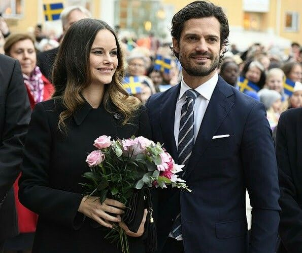 Princess Sofia and Prince Carl Philip of Sweden. October 21 2016