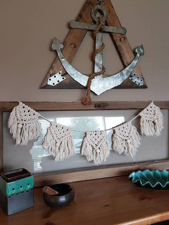 Check out this item in my Etsy shop My newest addition to my shop. In love! https://www.etsy.com/ca/listing/545795577/macrame-bunting-garland-wall-hanging