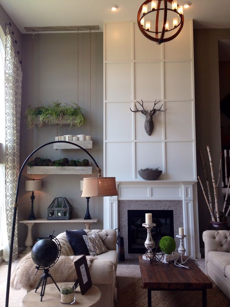 Two Story Living Room In 2019 Two Story Fireplace Foyer Decorating Home Fireplace