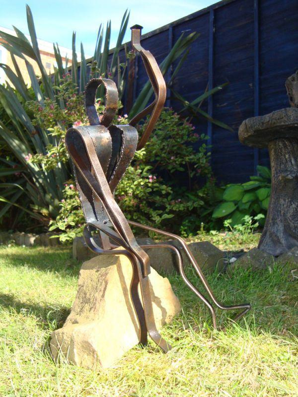 Copper #sculpture by #sculptor Jane McAdam Freud titled \u0027Earth Man
