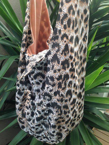 Leopard Print Bag | Indigo Heart - Fair Trade Fashion A$29.95