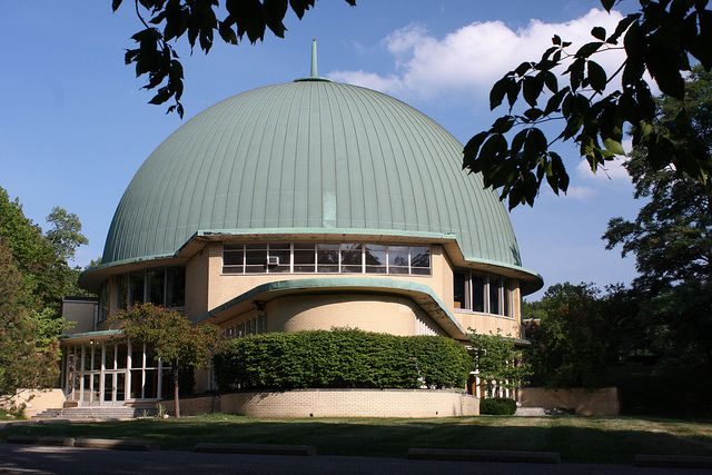 Important CLEVELAND ARCHITECTURE  |  PARK SYNAGOGUE, Eric Mendelsohn architect, was built in 1947-50 and is regarded as a major work of 20th-century architecture. It was the largest and most ambitious of 4 synagogues and community centers designed by Mendelsohn (1887-1953) between 1945-53. Its design contributed to the emergence of a distinct style of synagogue architecture in the 1950s, which departed from the traditional Near Eastern eclecticism.   photo Thom Sheridan