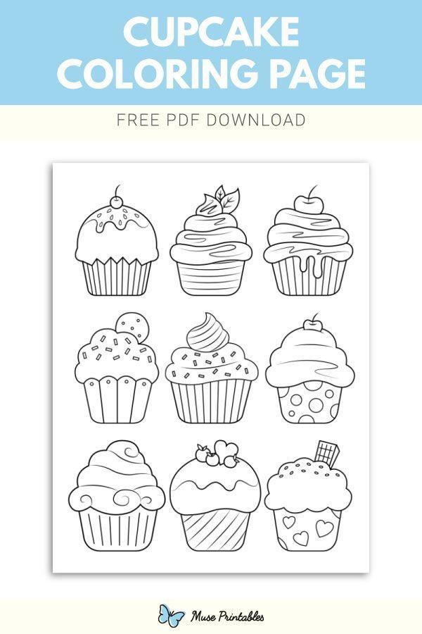 Kostenlose Cupcake Malvorlagen Cupcake Kostenlose Malvorlagen Cupcake Coloring Pages Coloring Pages Printables Free Kids