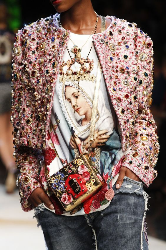 Dolce & Gabbana pins and embroidery | Embellished jackets | Girlfriend is Better