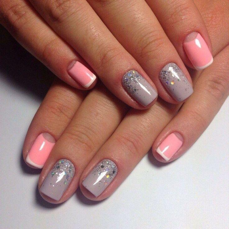 Idea per delle unghie decorate con una french manicure ...