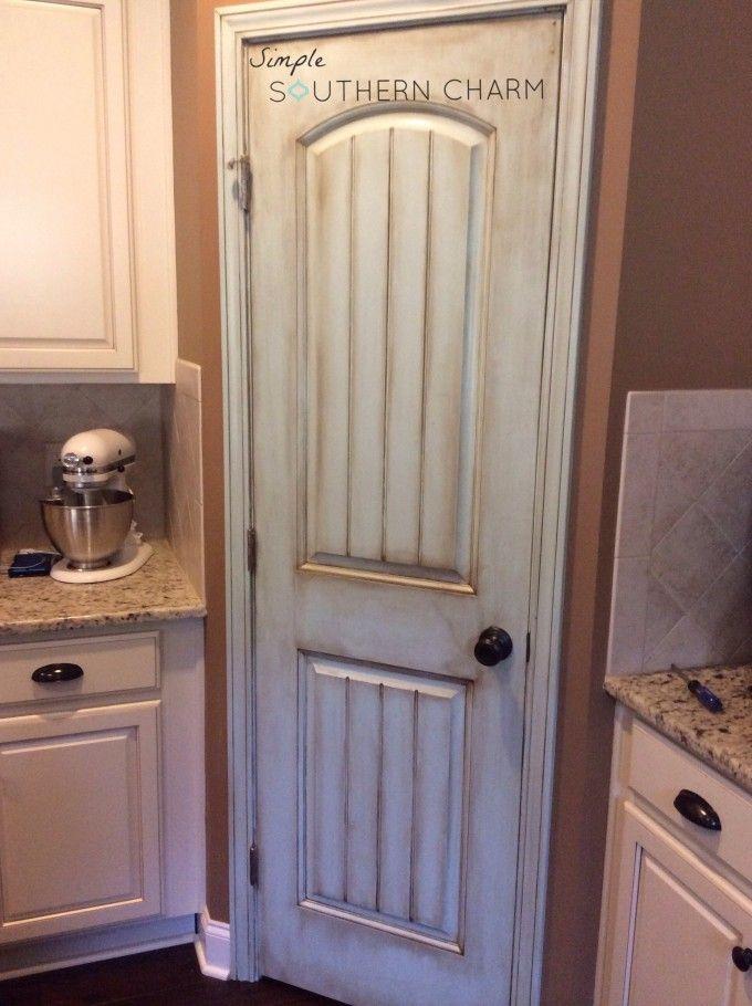 An update to my recently painted pantry door #aquadoor #aquaglazedpantrydoor #sherwinwilliamstidewater #generalfinishesglaze | Simple Southern Charm