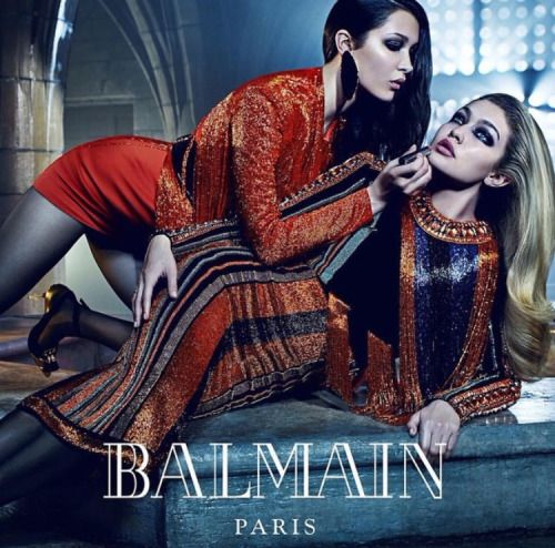 Balmain F/W 2015 Ad Campaign photographed by Mario Sorrenti