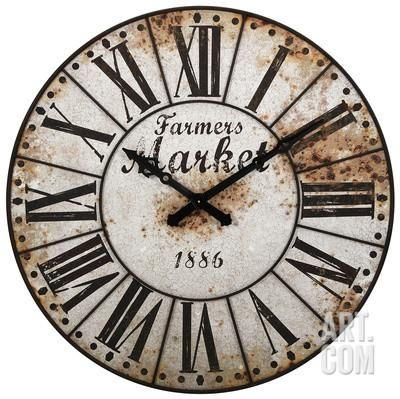 Farmers Market Oversized Wall Clock Home Accessories at Art.com