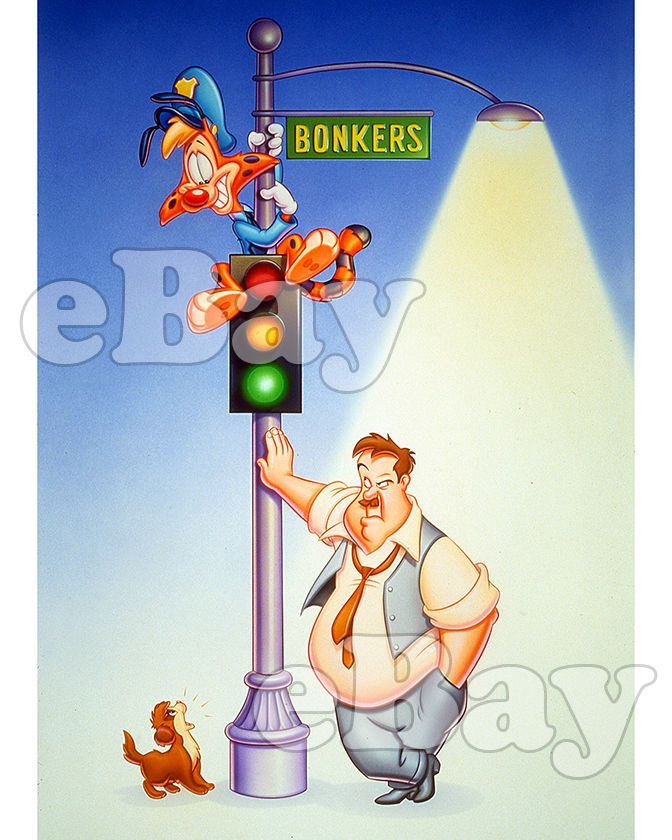 Rare! DISNEY'S BONKERS Cartoon Color 8 X 10 Photo DISNEY AFTERNOON