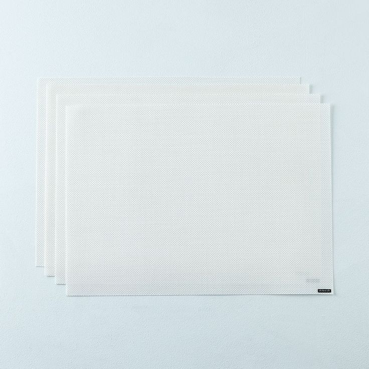 Mini Basketweave White Placemats (Set of 4) on Food52