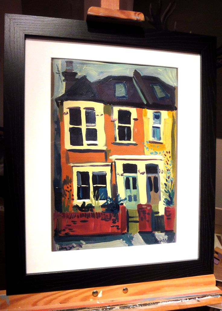 Victorian Semi acrylic 50 x 40 framed. Artwork for sale www ...