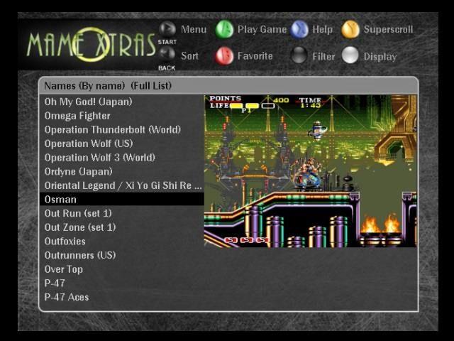 MAMEoXtras v1.4 Released for Original Xbox