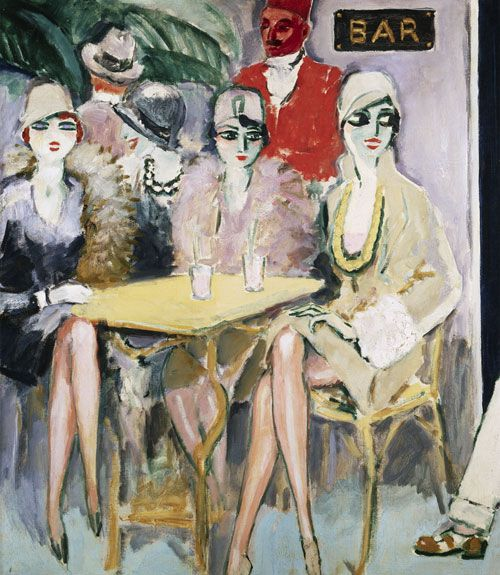 The Cairo Bar (c. 1920) by Kees Van Dongen (1877–1968) - (lilithsplace)