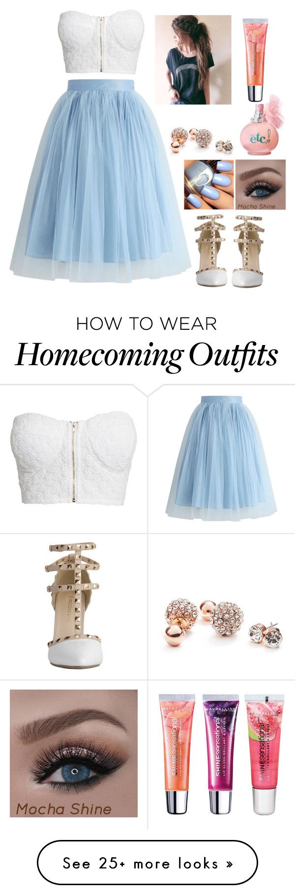 """""""Would this be cute for homecoming?"""" by aweekendaway on Polyvore featuring Chicwish, NLY Trend, GUESS and Maybelline"""