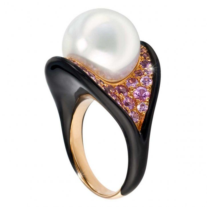 243 best Pearl Rings images on Pinterest | Pearl ring, Pearl rings ...