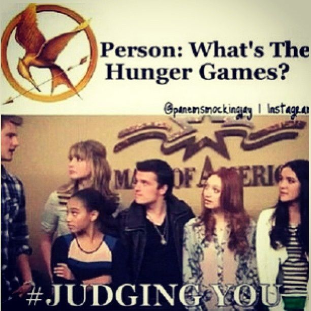 Lol haha funny / Hunger Games Humor / #Judging You