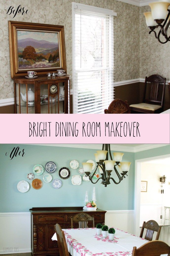Bright And Cheery Dining Room Makeover