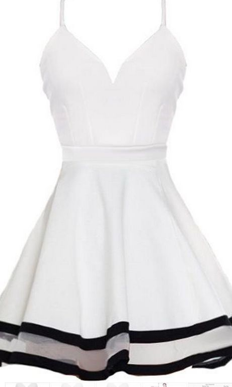 Short Homecoming Dress,white Homecoming Dress,cute Homecoming Dresses,Short…