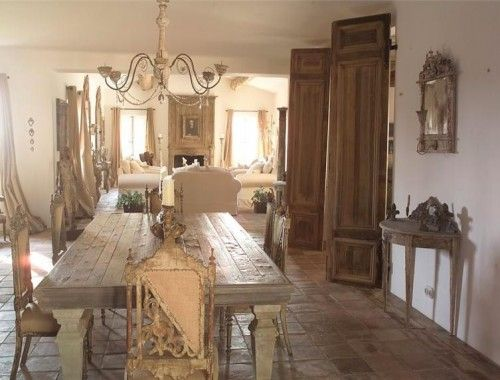 Attractive French Provence Decor Designed By ELise Valdorcia. Decor French Country.  Love The Farm Table