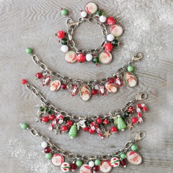 funCrafts Ideas, Santa, Christmas Bracelets, Crafts Projects, Christmas Ideas, Christmas Gift, Festivals Attire, Crafty Ideas, Chriatmas Crafts