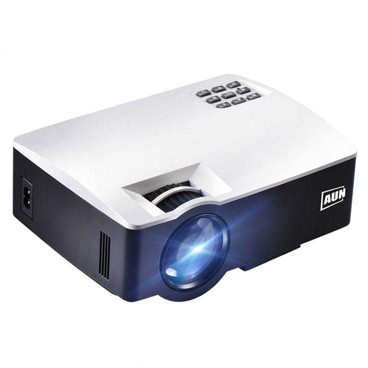 AUNAKEY1/PlusAndroid6PortableProyector para cine en casa 1800 Lumens HDMI Soporte Full HD 1080P