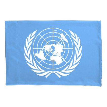#UN Flag Pillowcase - #Pillowcases #Pillowcase #Home #Bed #Bedding #Living