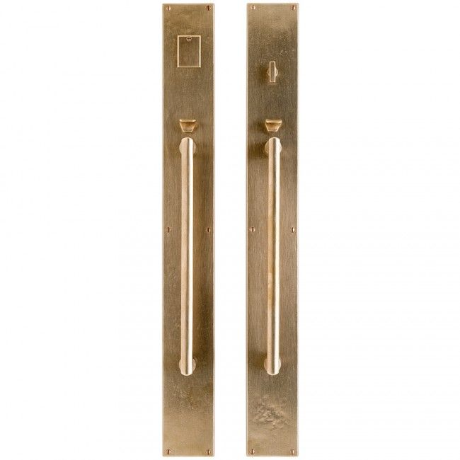 "Metro Entry Set - 3 1/2"" x 30""-for the front door with brass kick plate"