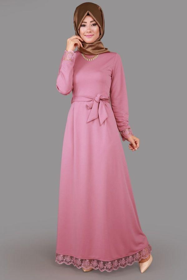 Açelya Dantel Detay Elbise Gül Kurusu Ürün Kodu: MSW8103 --> 79.90 TL