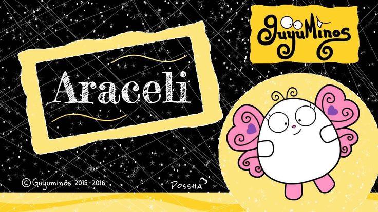 """Hola Araceli... Tu Nombre al estilo Guyuminos! Sabías que Aracely proviene del Latín y significa """"Altar del Cielo"""" Variantes: Aracelis, Aracely, Arcelia.  Diminutivo:Chely, Ara :D * Araceli Means """"altar of the sky"""" from Latinara""""altar"""" andcoeli""""sky"""" #aracely #nombres #significado #guyuminos #mariposa"""