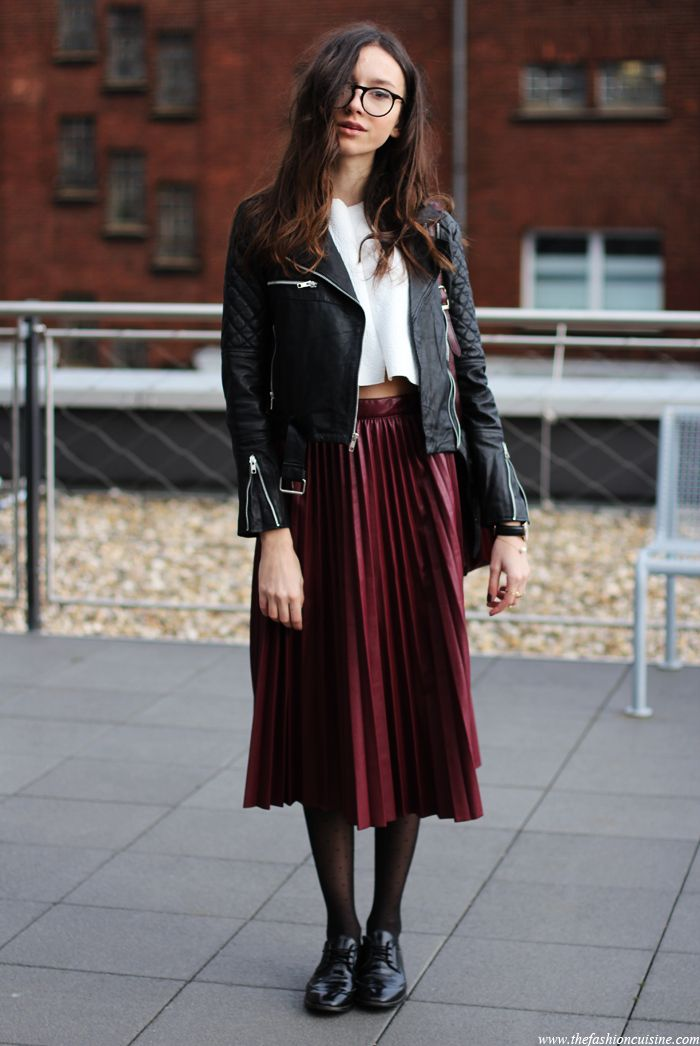 Leather Pleats • The Fashion Cuisine