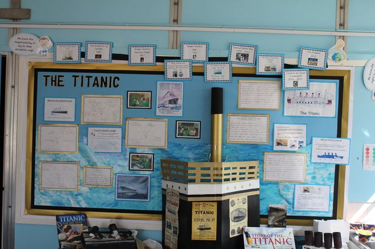 The Titanic Display, classroom display, class display, Titanic, boat, iceberg, sink, History, cruise, disaster,Early Years (EYFS),KS1&KS2 Primary Resources