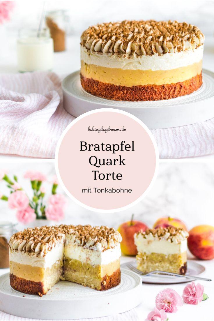 Gebackener Apfel-Quark-Kuchen • Gebackener Apfel-Quark-Kuchen • Kleiner gebackener Apfel-Quark-Kuchen …   – Kuchen & Torten