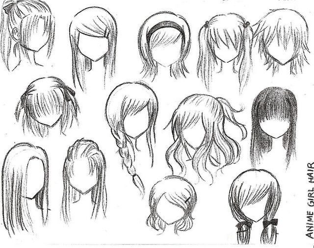 tekenen hair