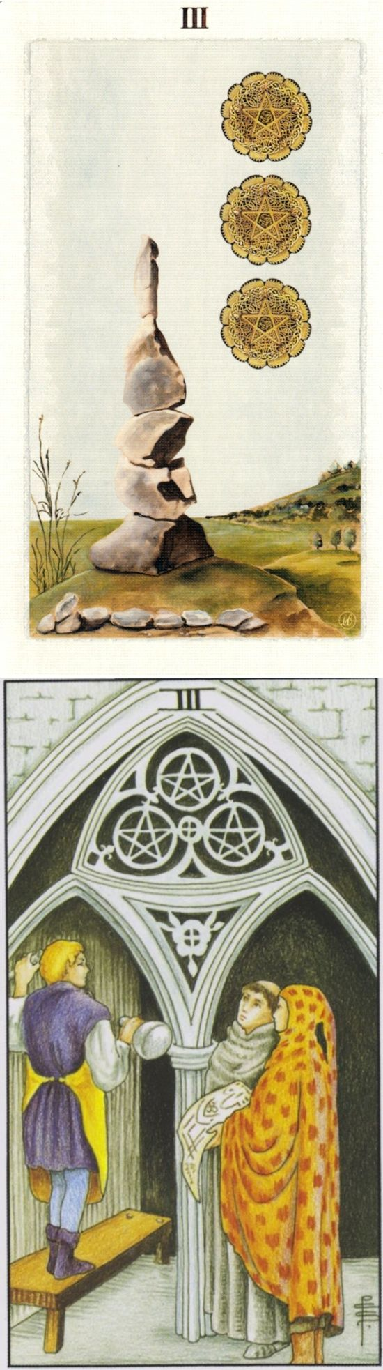 Three of Pentacles: collaborative building and group conflict (reverse). Pagan Otherworlds Tarot deck and Universal Tarot deck: tarot app, free tarot reading 2016 and astrology yes no. Best 2017 cartomancy decks and goth girl.