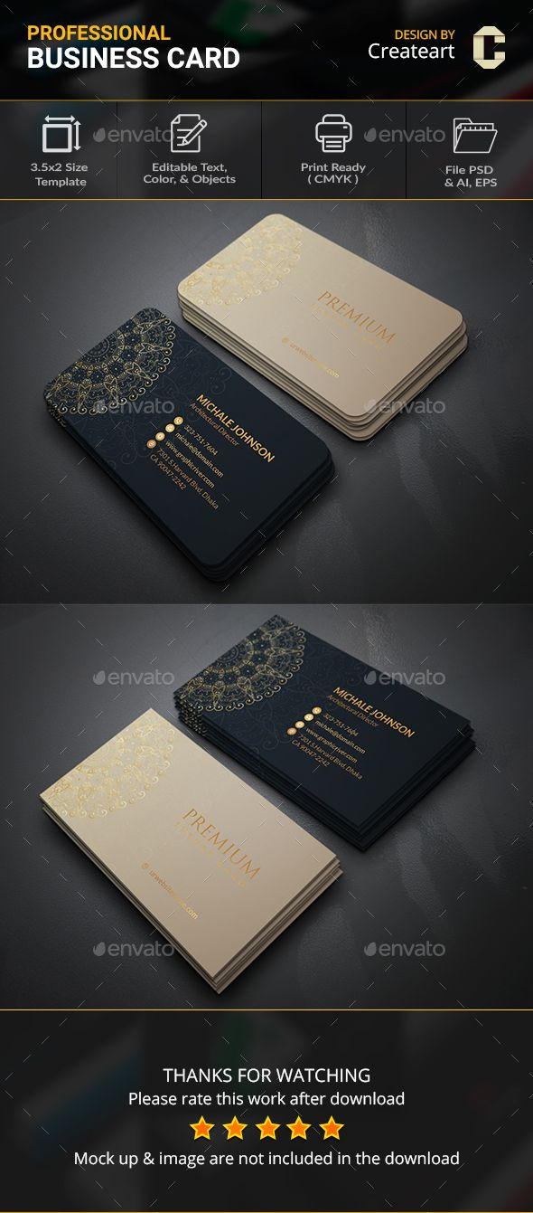 Luxury Ornamental #Business #Card - Business Cards Print Templates Download here: https://graphicriver.net/item/luxury-ornamental-business-card/20103902?ref=alena994