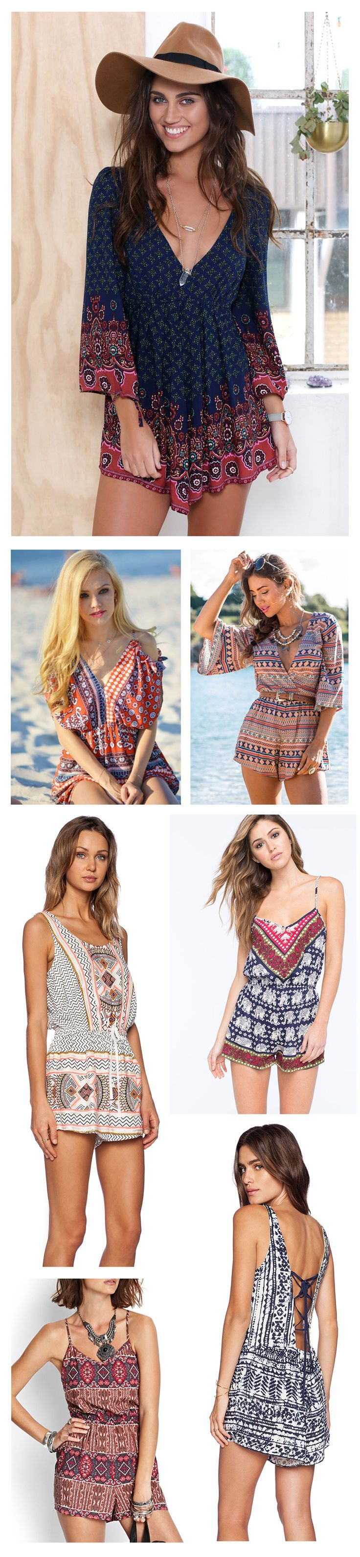 Stylish Print Jumpsuit/Romper Outfits